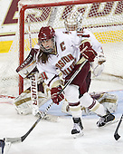 Katelyn Kurth (BC - 14) - The Boston College Eagles defeated the Harvard University Crimson 3-1 to win the 2011 Beanpot championship on Tuesday, February 15, 2011, at Conte Forum in Chestnut Hill, Massachusetts.
