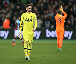 Tottenham's Hugo Lloris looks on dejected at the final whistle during the Premier League match at the London Stadium, London. Picture date: May 5th, 2017. Pic credit should read: David Klein/Sportimage