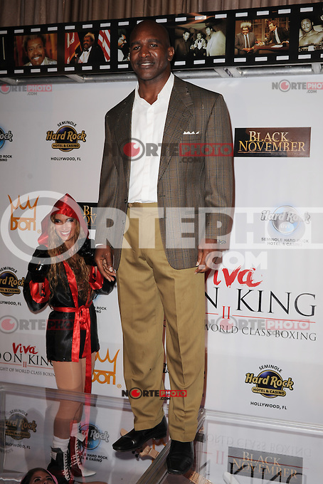 HOLLYWOOD FL - JUNE 22 : Evander Holyfield arrives during Don King's 80th birthday celebration at Hard Rock live held at the Seminole Hard Rock Hotel &amp; Casino on June 22, 2012 in Hollywood, Florida. &copy;&nbsp;mpi04/MediaPunch Inc NORTEPHOTO.COM<br />