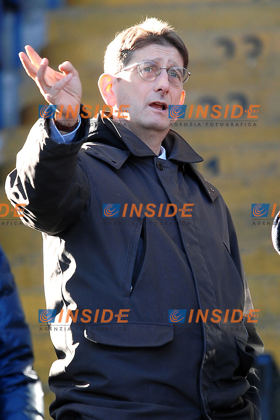 Il Presidente del Chievo Igor Campedelli.Roma 08/01/2012 Stadio Olimpico.Serie A 2011/2012 Football Calcio .Roma Vs Chievo Verona.Foto Insidefoto Andrea Staccioli