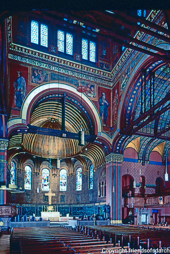 H. H. Richardson: Trinity Church Interior 1876-1877. Chancel Redecorated South Transcept, right, in 1902. Isaiah, left & Jeremiah, right--John La Farge.