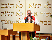 "The Right Reverend John Bryson Chane, Bishop of the Episcopal Diocese of Washington, makes remarks at the September 11 remembrance at Washington Hebrew Congregation in Washington, D.C. on September 11, 2011 which is part of the ""The Washington National Cathedral's A Call to Compassion"" to commemorate the 10th anniversary of the terrorist attacks in New York, New York and Washington, D.C..Credit: Ron Sachs / CNP"