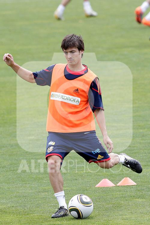MADRID (25/05/09).- The Spanish Soccer national training session.  David Silva...PHOTO: Cesar Cebolla / ALFAQUI