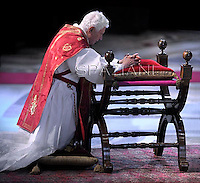 Good Friday Passion of the Lord Benedict XVI in Saint Peter's Basilica.April 6, 2012