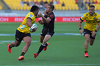 Asafo Aumua in action during the Super Rugby match between the Hurricanes and Sharks at Sky Stadium in Wellington, New Zealand on Saturday, 15 February 2020. Photo: Dave Lintott / lintottphoto.co.nz