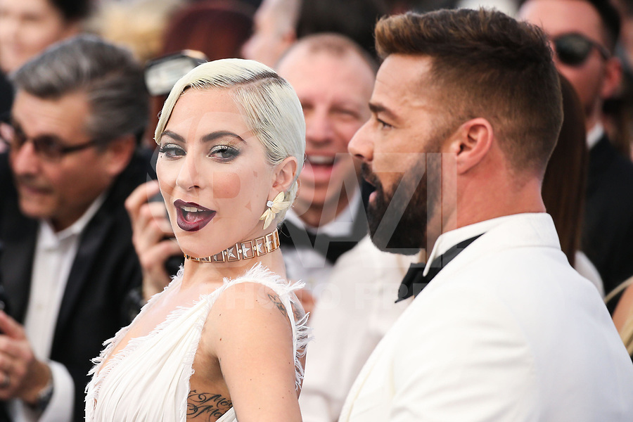 LOS ANGELES, EUA, 27.01.2019 - PREMIAÇÃO-EUA - A atriz e cantora Lady Gaga e o cantor Ricky Martin  durante tapete vermelho do  25º Anual Screen Actors Guild Awards, realizada no Shrine Auditorium em Los Angeles nos Estados Unidos na noite de ontem domingo, 27. (Foto: Brazil Photo Press)
