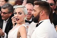 LOS ANGELES, EUA, 27.01.2019 - PREMIAÇÃO-EUA - A atriz e cantora Lady Gaga e o cantor Ricky Martin  durante tapete vermelho do  25º Anual Screen Actors Guild Awards, realizada no Shrine Auditorium em Los Angeles nos Estados Unidos na noite de ontem domingo, 27. (Foto: Brazil Photo Press)