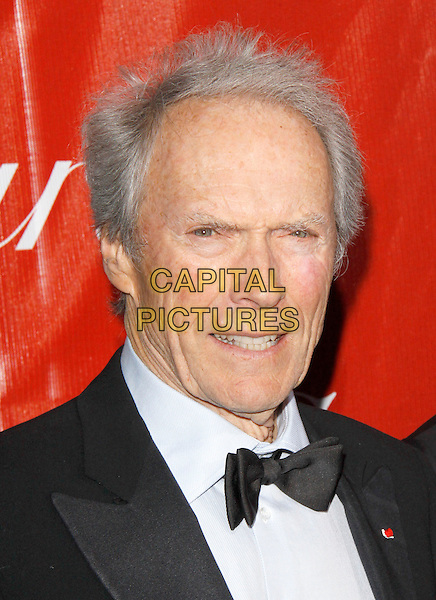 CLINT EASTWOOD.The 21st Annual Palm Springs International Film Festival held at The Civic Center in Palm Springs, California, USA. .January 5th, 2010.headshot portrait black white bow tie.CAP/RKE/DVS.©DVS/RockinExposures/Capital Pictures.