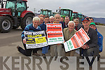 FARMERS PROTEST: Farmers from all over the county gathered together to highlight their concerns over Government cuts and inaction on collapsing fram incomes. Front l-r were: Pat Hayes, Donal Mulvihill, Bernard Collins, Tom Lawlor and John Mangan. Back l-r were: Michael Hanlon, Pat O'Connor, Ken Jones, Brendan Lawlor, Pat Enright, Danny O'Mahony, Sean Brosnan amd Patsy Rahilly.