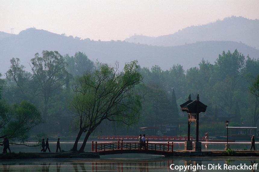 See im Park des Sommerpalast, Chengde, China, Unesco-Weltkulturerbe