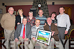 AWARDED: Jim McEllistrim who was presented with a special presentation on the Clanmaurice Credit Union annual getogether at Lowe's bar & Restaurant, on Saturday night foer his contribution to the organisation. Front l-r: John O'Regan, John O'Halloran and Jim McEllistrim. Back l-r: Murt O'Sullivan, Eileen McGrath, Noreen Lynch, Gerard Slattery,Marina McSherry and Martin Lyons....