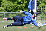 Marcus Hahnemann makes a save on Saturday, May 20th, 2006 at SAS Soccer Park in Cary, North Carolina. The United States Men's National Soccer Team held a training session as part of their preparations for the upcoming 2006 FIFA World Cup Finals being held in Germany.