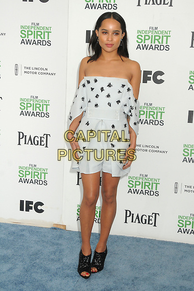 1 March 2014 - Santa Monica, California - Zoe Kravitz. 2014 Film Independent Spirit Awards - Arrivals held at Santa Monica Beach. <br /> CAP/ADM/BP<br /> &copy;Byron Purvis/AdMedia/Capital Pictures