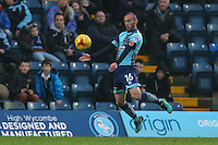 Michael Harriman of Wycombe Wanderers during the Sky Bet League 2 match between Wycombe Wanderers and Morecambe at Adams Park, High Wycombe, England on 12 November 2016. Photo by David Horn.
