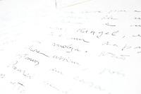 Pedro Leopoldo_MG, Brasil...Na foto, reproducao de carta psicografada pelo, medium / lider espirita, Chico Xavier...Reproducing the letter psychographed, medium / spiritualist leader, Chico Xavier...Foto: NIDIN SANCHES / NITRO