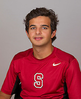 Fawaz Hourani, with the Stanford Men's Tennis Team. Photo taken on Monday, September 23, 2013.