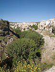 River Tajo limestone gorge cliffs, Alhama de Granada, Spain