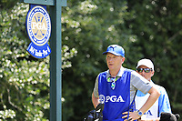 Caddy Basile on the 14th tee during Thursday's Round 1 of the 2017 PGA Championship held at Quail Hollow Golf Club, Charlotte, North Carolina, USA. 10th August 2017.<br /> Picture: Eoin Clarke | Golffile<br /> <br /> <br /> All photos usage must carry mandatory copyright credit (&copy; Golffile | Eoin Clarke)
