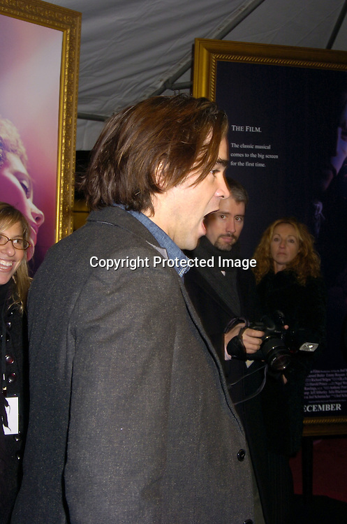 """Colin Farrell ..at The New York Premiere of """"Phantom of the Opera"""" on ..December 12, 2004 at the Ziegfeld Theatre. ..Photo by Robin Platzer, Twin Images"""