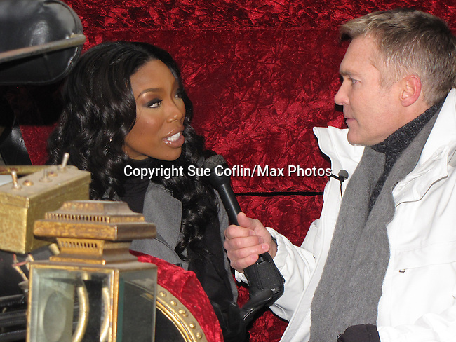 Brandy (Dancing with the Stars) and Sam Champion (Good Morning America) appear at the 6 ABC IKEA Thanksgiving Day Parade on November 25, 2010 in Philadelphia, Pennsylvania. (Photo by Sue Coflin/Max Photos)