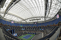 FLUSHING NY- AUGUST 26: A general view of Arthur Ashe Stadium with the roof closed at the USTA Billie Jean King National Tennis Center on August 26, 2016 in Flushing Queens. Photo byMPI04 / MediaPunch