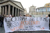 Roma, 23 Gennaio 2016<br /> #svegliaitalia, manifestazione al Pantheon per la legge sulle unioni e i diritti civili.