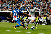 1st October 2017, Santiago Bernabeu, Madrid, Spain; La Liga football, Real Madrid versus Espanyol; Marc Roca (21) Espanyol Francisco Roman Alarcon (22) Real Madrid