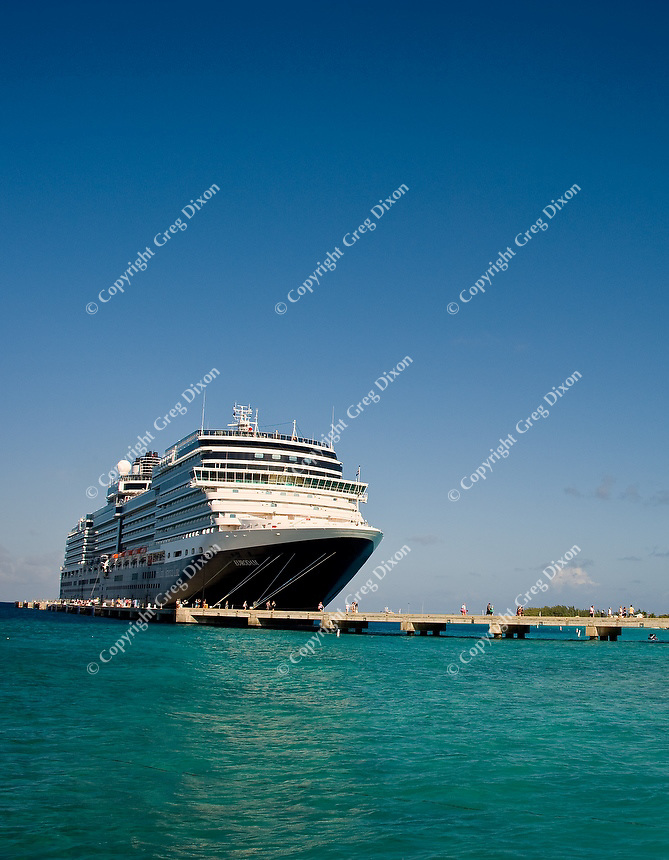 Holland America's ms Eurodam on the pier in Grand Turk, Turk and Caicos Islands, on Feb. 6, 2012