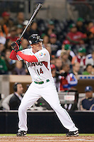 16 March 2009: #14 Scott Hairston of Mexico is seen at bat during the 2009 World Baseball Classic Pool 1 game 3 at Petco Park in San Diego, California, USA. Cuba wins 7-4 over Mexico.