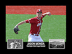 Photo collage of Jason Monda during his college baseball career at Washington State University.