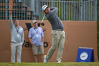 Andrew Yun (USA) watches his tee shot on 1 during Round 2 of the Valero Texas Open, AT&amp;T Oaks Course, TPC San Antonio, San Antonio, Texas, USA. 4/20/2018.<br /> Picture: Golffile   Ken Murray<br /> <br /> <br /> All photo usage must carry mandatory copyright credit (&copy; Golffile   Ken Murray)