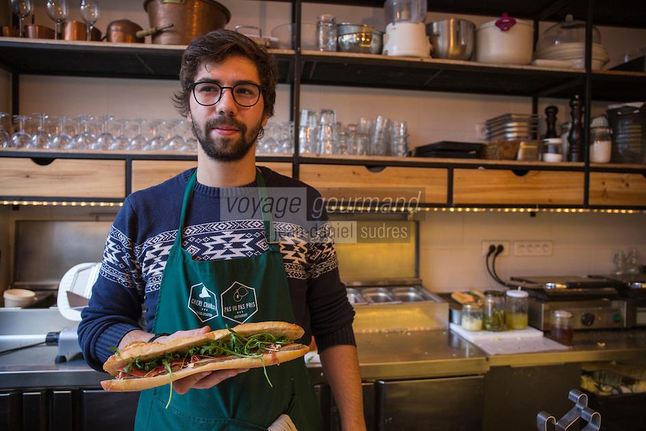 Europe,France,Ile-de-France,75009, Paris: Chéri-Charlot (sandwiches, casse croutes) : 33, rue Richer,