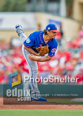 28 February 2019: New York Mets pitcher Jason Vargas on the mound during a Spring Training game against the St. Louis Cardinals at Roger Dean Stadium in Jupiter, Florida. The Mets defeated the Cardinals 3-2 in Grapefruit League play. Mandatory Credit: Ed Wolfstein Photo *** RAW (NEF) Image File Available ***