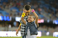 San Jose, CA - Saturday September 16, 2017: First kick prior to a Major League Soccer (MLS) match between the San Jose Earthquakes and the Houston Dynamo at Avaya Stadium.