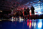 KENOSHA, WI - APRIL 28:  The Stevens Institute Men's Volleyball team lines up for the National Anthem at the Division III Men's Volleyball Championship held at the Tarble Athletic and Recreation Center on April 28, 2018 in Kenosha, Wisconsin. (Photo by Steve Woltmann/NCAA Photos via Getty Images)
