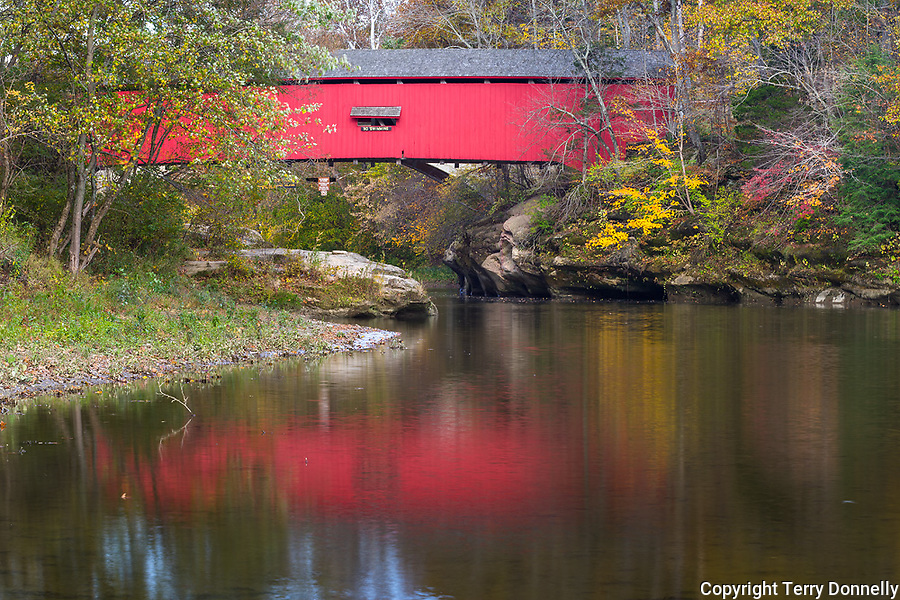 Parke County, IN: The Narrows Bridge (1882) on Sugar Creek at Turkey Run State Park