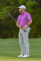 Graeme McDowell (NIR) reacts to barely missing his birdie putt on 10 during day 2 of the Valero Texas Open, at the TPC San Antonio Oaks Course, San Antonio, Texas, USA. 4/5/2019.<br /> Picture: Golffile | Ken Murray<br /> <br /> <br /> All photo usage must carry mandatory copyright credit (&copy; Golffile | Ken Murray)