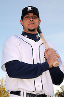 Feb 21, 2009; Lakeland, FL, USA; The Detroit Tigers infielder Jeff Larish (19) during photoday at Tigertown. Mandatory Credit: Tomasso De Rosa/ Four Seam Images