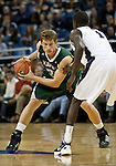 January 14, 2012:   Hawai'i Rainbow Warriors forward Hauns Brereton looks to drive around Nevada Wolf Pack guard Patrick Nyeko during their NCAA basketball game played at Lawlor Events Center on Saturday night in Reno, Nevada.