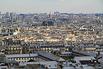 View from the steps of Sacre-Coeur Basilica in Paris, France.