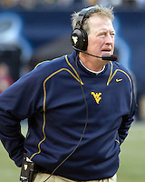 November 28, 2008. WVU head coach Bill Stewart. The Pitt Panthers defeated the West Virginia Mountaineers 19-15 on November 28, 2008 at Heinz Field, Pittsburgh, Pennsylvania.