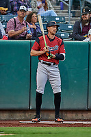 Hunter Pence (40) of the Sacramento River Cats on deck against the Salt Lake Bees at Smith's Ballpark on May 17, 2018 in Salt Lake City, Utah. Salt Lake defeated Sacramento 12-11. (Stephen Smith/Four Seam Images)