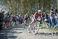 John Degenkolb (DEU/Trek-Segafredo) followed by Greg Van Avermaet (BEL/BMC)<br /> <br /> 115th Paris-Roubaix 2017 (1.UWT)<br /> One Day Race: Compiègne › Roubaix (257km)