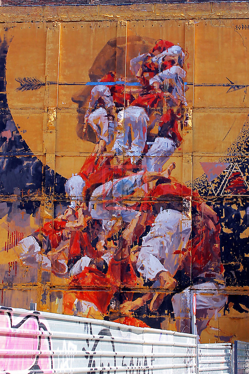 Street Art-Graffittis.<br /> Carrer de Pallars.<br /> Barcelona-Poblenou (Sant Marti).