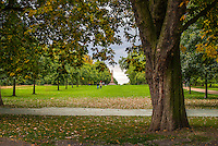 Scenic photograph of Hyde Park in London, England. <br />