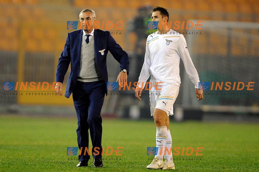 """Edy Reja e Miroslav KLOSE Lazio.Lecce 10/12/2011 Stadio """"Via del MAre"""".Football Calcio Serie A 2011/2012.Lecce Vs Lazio.Foto Insidefoto ."""
