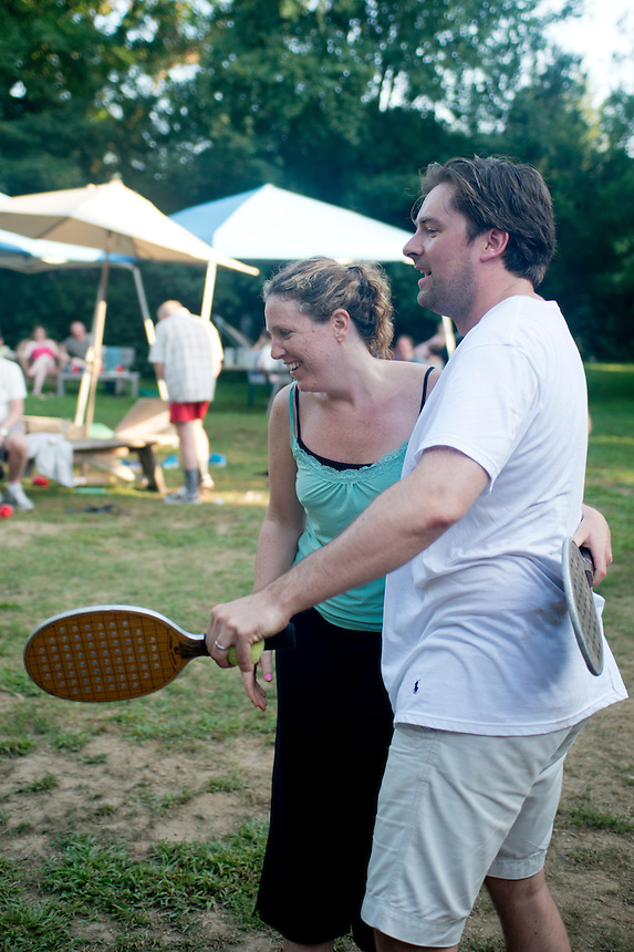 Alix and Alexander. Roofball competition. The Barn. Bridgehampton, New York 2012