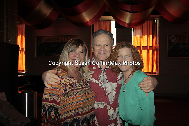 Kim Zimmer & Robert Woods & Liz Keifer - 11th Annual Daytime Stars & Strikes Event for Autism - 2015 on April 19, 2015 hosted by Guiding Light's Jerry ver Dorn (& OLTL) and Liz Keifer at Bowlmor Lanes Times Square, New York City, New York. (Photos by Sue Coflin/Max Photos)