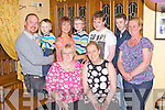 Celebrating her 40th birthday was Elaine Hillard Murphy( front right) pictured here with family and friends last Sunday night in Leen's Hotel, Abbeyfeale. F l-r: Frances and Elaine Hillard Murphy. B l-r: Oliver, Cathal, BB and TJ Murphy, Connie Hillard Murphy, Kevin Kelly and Mary Murphy McCarthy.