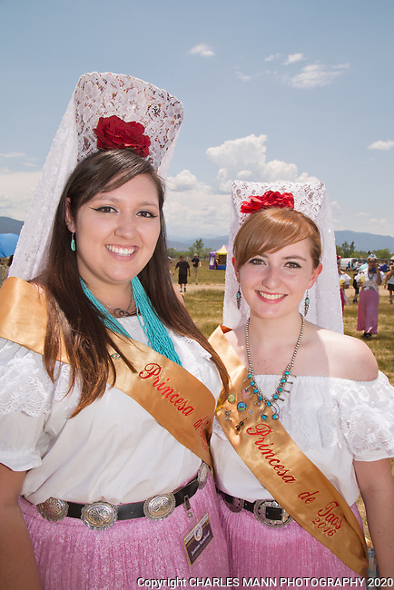 The annual Taos Pow-Wow,  each year in early July,  is attended not only by dancers from different tribes of New Mexico but by  participants from many other states as well. Princesses Justine Sandoval and Julia Ann Johnson Jaramillo attend the 2017 Pow-Wow.